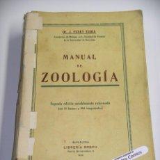 Libros antiguos: MANUAL DE ZOOLOGÍA, DR. J FUSET TUBIÁ, ED. BOSCH AÑO 1928, B5. Lote 278880578