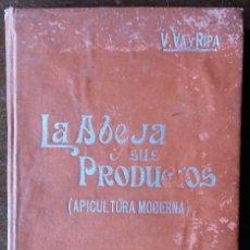 Libros antiguos: LA ABEJA Y SUS PRODUCTOS. APICULTURA MODERNA. V. VA Y RIPA. EDICIÓN DE 1911.. Lote 159565002