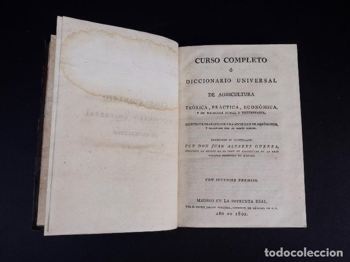 Libros antiguos: CURSO COMPLETO O DICCIONARIO UNIVERSAL DE AGRICULTURA 1801. TOMO XII - Foto 3 - 159689634