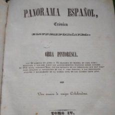 Livres anciens: PANORAMA ESPAÑOL, CRÓNICA, OBRA PINTORESCA TOMO IV. Lote 159951594