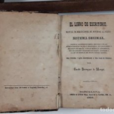 Libros antiguos: EL LIBRO DE ESCRITORIO. 3 TOMOS EN I VOL. LIB. ESTEVAN PUJAL. BARCELONA. 1868.. Lote 160334650