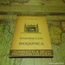 Libros antiguos: INTRODUCCIÓN A LA BIOQUÍMICA. COLECCIÓN LABOR BIBLIOTECA DE INICIACIÓN CULTURAL. WALTHER LÖB. 1929. Lote 160373830