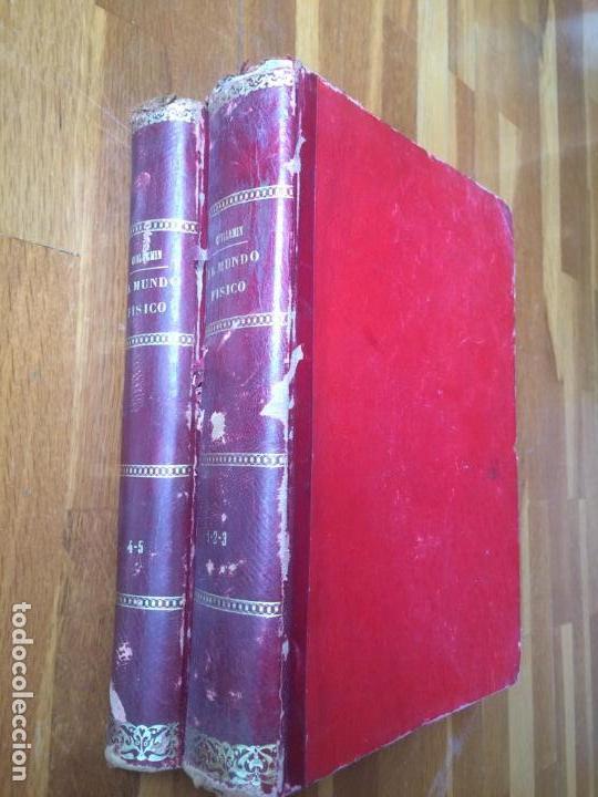 EL MUNDO FÍSICO - 5 TOMOS EN DOS VOLÚMENES (MONTANER Y SIMÓN, 1882-1885) (Libros Antiguos, Raros y Curiosos - Ciencias, Manuales y Oficios - Física, Química y Matemáticas)