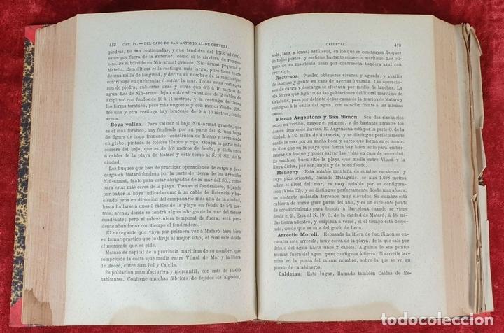 Libros antiguos: DERROTERO GENERAL DEL MEDITERRANEO. IMP. SALGADO. MADRID. 2 TOMOS. 1858/1873. - Foto 2 - 160918650