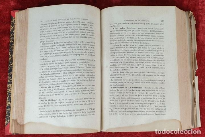 Libros antiguos: DERROTERO GENERAL DEL MEDITERRANEO. IMP. SALGADO. MADRID. 2 TOMOS. 1858/1873. - Foto 3 - 160918650
