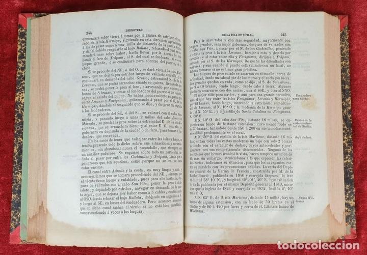 Libros antiguos: DERROTERO GENERAL DEL MEDITERRANEO. IMP. SALGADO. MADRID. 2 TOMOS. 1858/1873. - Foto 6 - 160918650