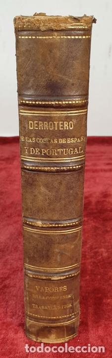 Libros antiguos: DERROTERO DE LAS COSTAS DE ESPAÑA Y PORTUGAL. EDIT. DEPÓSITO HIDROGRAFICO. 1880. - Foto 2 - 160935142