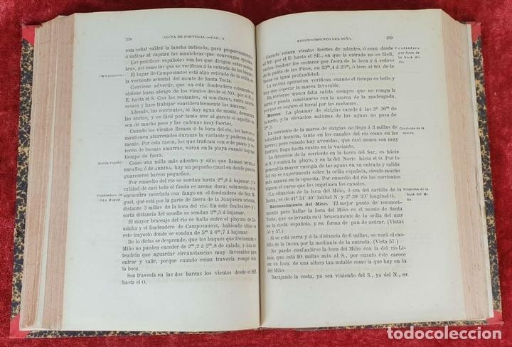 Libros antiguos: DERROTERO DE LAS COSTAS DE ESPAÑA Y PORTUGAL. EDIT. DEPÓSITO HIDROGRAFICO. 1880. - Foto 5 - 160935142