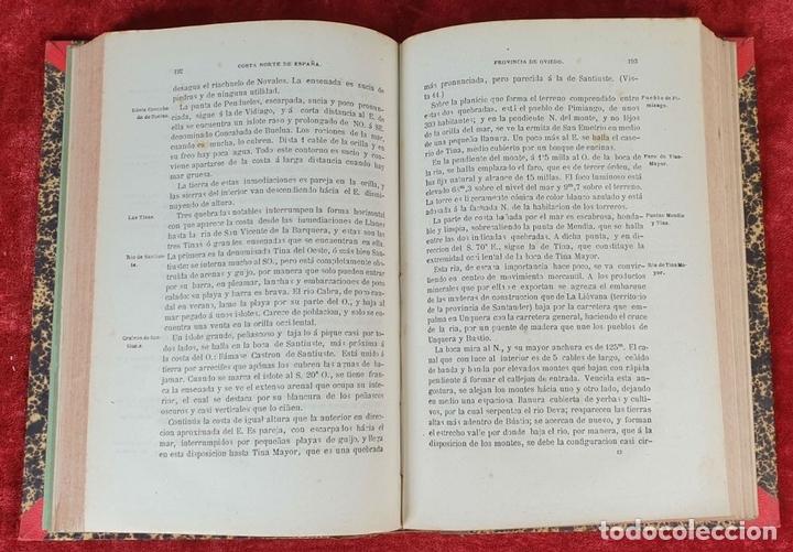 Libros antiguos: DERROTERO DE LA COSTA SEPTENTRIONAL DE ESPAÑA. DEPOSITO HIDROGRAFICO. 1880 - Foto 3 - 160938338