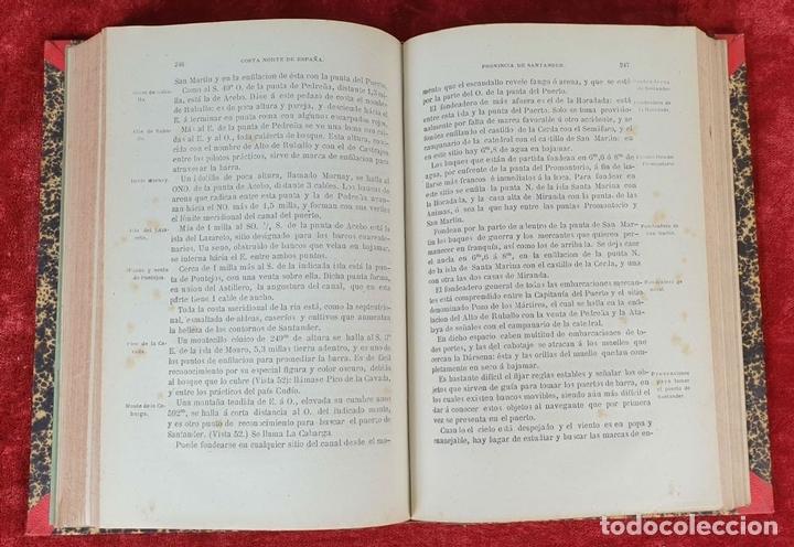 Libros antiguos: DERROTERO DE LA COSTA SEPTENTRIONAL DE ESPAÑA. DEPOSITO HIDROGRAFICO. 1880 - Foto 4 - 160938338