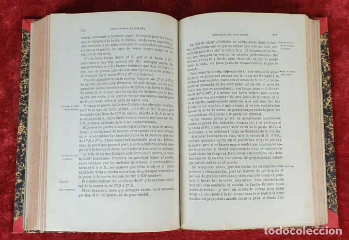 Libros antiguos: DERROTERO DE LA COSTA SEPTENTRIONAL DE ESPAÑA. DEPOSITO HIDROGRAFICO. 1880 - Foto 5 - 160938338