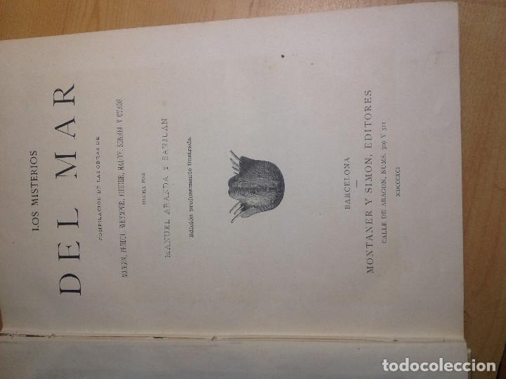 Libros antiguos: Los misterios del Mar- S. XIX- 1891- - Foto 4 - 161254066