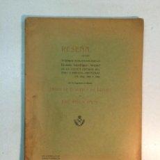 Libros antiguos: JAVIER DE FERRER, JOSE REIG Y PALAU: RESEÑA DE LOS TRABAJOS DE LA CUENCA INFERIOR DEL EBRO (1905). Lote 161445966