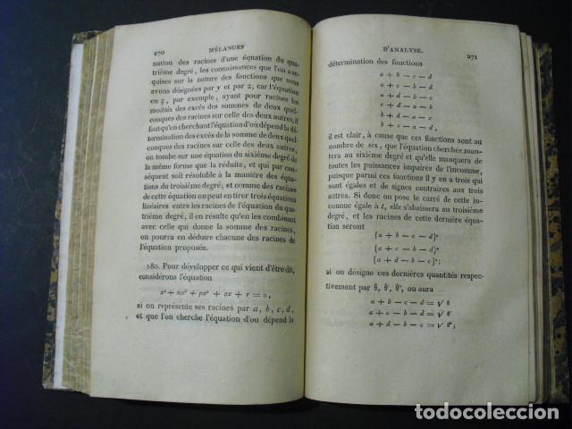 Libros antiguos: 1815 MELANGES D´ANALYSE ALGEBRIQUE ET GEOMETRIE M. J. DE STAINVILLE - Foto 5 - 161546782