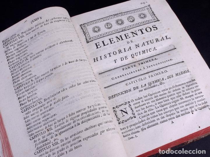Libros antiguos: ELEMENTOS DE HISTORIA NATURAL Y DE QUÍMIDA. TOMOS PRIMERO Y SEGUNDO. SEGOVIA 1793 - Foto 5 - 161646938