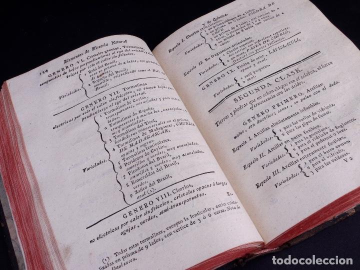 Libros antiguos: ELEMENTOS DE HISTORIA NATURAL Y DE QUÍMIDA. TOMOS PRIMERO Y SEGUNDO. SEGOVIA 1793 - Foto 6 - 161646938