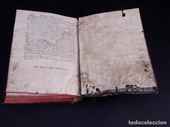 Libros antiguos: ELEMENTOS DE HISTORIA NATURAL Y DE QUÍMIDA. TOMOS PRIMERO Y SEGUNDO. SEGOVIA 1793 - Foto 12 - 161646938