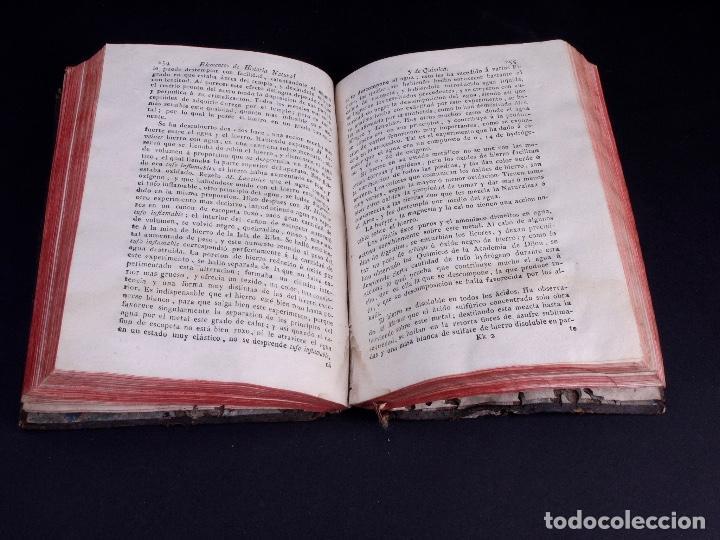 Libros antiguos: ELEMENTOS DE HISTORIA NATURAL Y DE QUÍMIDA. TOMOS PRIMERO Y SEGUNDO. SEGOVIA 1793 - Foto 13 - 161646938