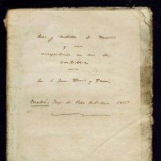 Libros antiguos: PESOS Y MEDIDAS DE MENORCA Y SU CORRESPONDENCIA CON LOS DE CASTILLA.JUAN RAMIS Y RAMIS.1815(MEN.2.3). Lote 161666386