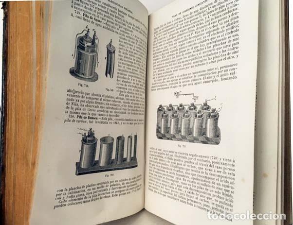 Libros antiguos: Física experimental y aplicada, y Meteorología. (Ganot, 1876) Plena piel. 935 grabados en madera. - Foto 3 - 162526370