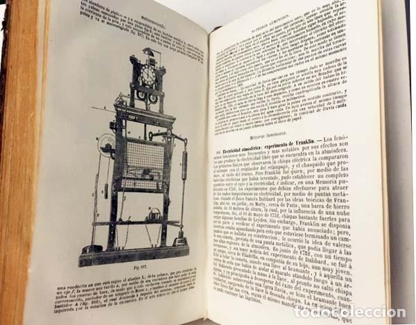 Libros antiguos: Física experimental y aplicada, y Meteorología. (Ganot, 1876) Plena piel. 935 grabados en madera. - Foto 5 - 162526370