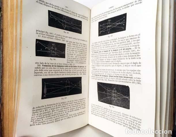 Libros antiguos: Física experimental y aplicada, y Meteorología. (Ganot, 1876) Plena piel. 935 grabados en madera. - Foto 6 - 162526370