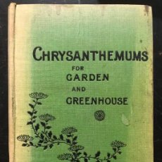 Libros antiguos: CHRYSANTHEMUMS FOR GARDEN AND GREENHOUSE. Lote 162801502