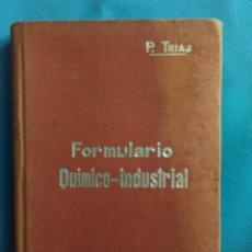 Libros antiguos: MANUAL SOLER №37( FORMULARIO QUÍMICO - INDUSTRIAL) AÑO 1903. Lote 163051886