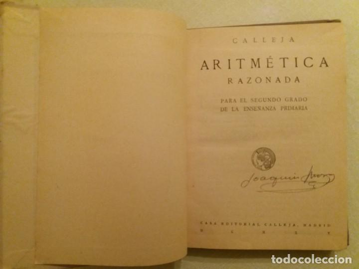 Libros antiguos: ARITMÉTICA RAZONADA. CALLEJA. 1916. - Foto 4 - 163362394