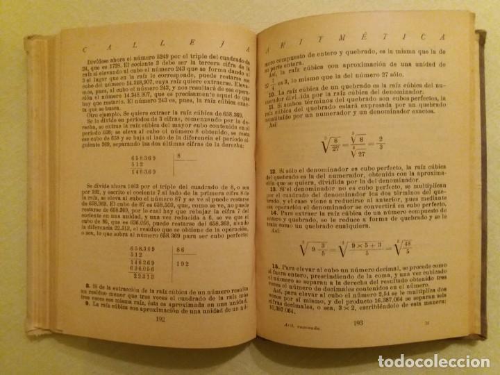 Libros antiguos: ARITMÉTICA RAZONADA. CALLEJA. 1916. - Foto 6 - 163362394