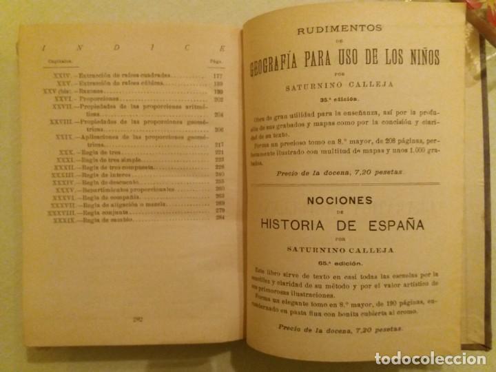 Libros antiguos: ARITMÉTICA RAZONADA. CALLEJA. 1916. - Foto 8 - 163362394
