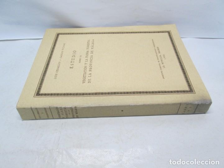 Libros antiguos: ESTUDIO SOBRE LA VEGETACION Y LA FLORA FORESTAL DE LA PROVINCIA DE MALAGA. LUIS CABALLOS. 1933 - Foto 2 - 164957490