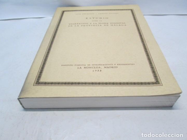 Libros antiguos: ESTUDIO SOBRE LA VEGETACION Y LA FLORA FORESTAL DE LA PROVINCIA DE MALAGA. LUIS CABALLOS. 1933 - Foto 3 - 164957490