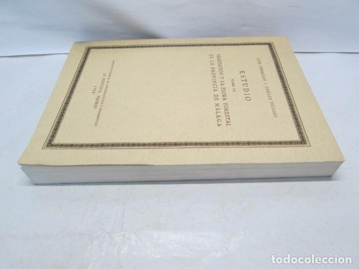 Libros antiguos: ESTUDIO SOBRE LA VEGETACION Y LA FLORA FORESTAL DE LA PROVINCIA DE MALAGA. LUIS CABALLOS. 1933 - Foto 4 - 164957490