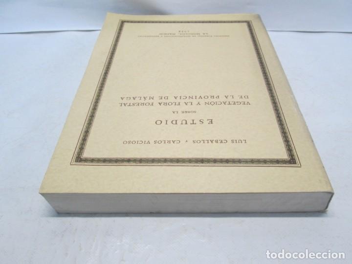 Libros antiguos: ESTUDIO SOBRE LA VEGETACION Y LA FLORA FORESTAL DE LA PROVINCIA DE MALAGA. LUIS CABALLOS. 1933 - Foto 5 - 164957490