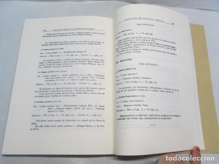 Libros antiguos: ESTUDIO SOBRE LA VEGETACION Y LA FLORA FORESTAL DE LA PROVINCIA DE MALAGA. LUIS CABALLOS. 1933 - Foto 14 - 164957490