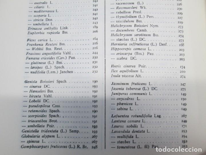 Libros antiguos: ESTUDIO SOBRE LA VEGETACION Y LA FLORA FORESTAL DE LA PROVINCIA DE MALAGA. LUIS CABALLOS. 1933 - Foto 17 - 164957490