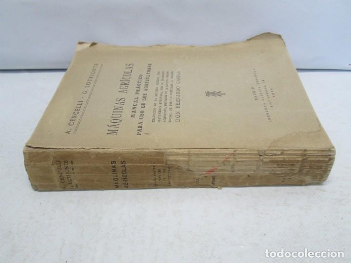 Libros antiguos: A. CENCELLI. G. LOTRIONTE. MAQUINAS AGRICOLAS. MANUAL PRACTICO PARA USO DE LOS AGRICULTORES. 1929 - Foto 2 - 165094310