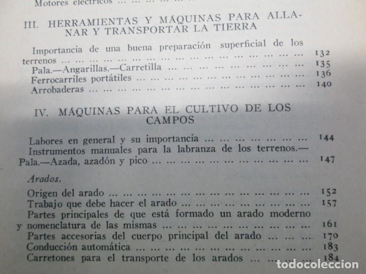Libros antiguos: A. CENCELLI. G. LOTRIONTE. MAQUINAS AGRICOLAS. MANUAL PRACTICO PARA USO DE LOS AGRICULTORES. 1929 - Foto 19 - 165094310