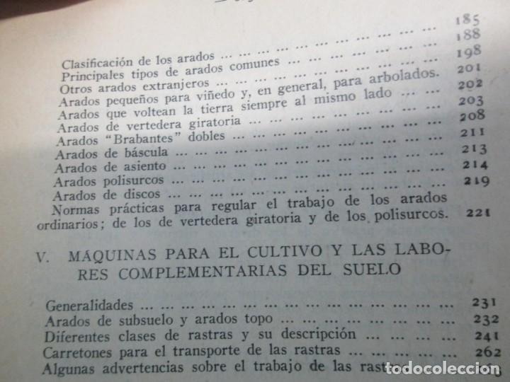 Libros antiguos: A. CENCELLI. G. LOTRIONTE. MAQUINAS AGRICOLAS. MANUAL PRACTICO PARA USO DE LOS AGRICULTORES. 1929 - Foto 20 - 165094310