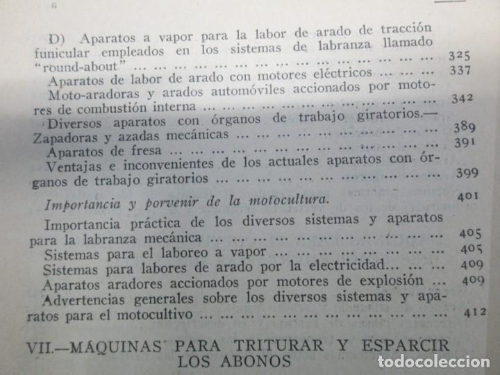 Libros antiguos: A. CENCELLI. G. LOTRIONTE. MAQUINAS AGRICOLAS. MANUAL PRACTICO PARA USO DE LOS AGRICULTORES. 1929 - Foto 22 - 165094310