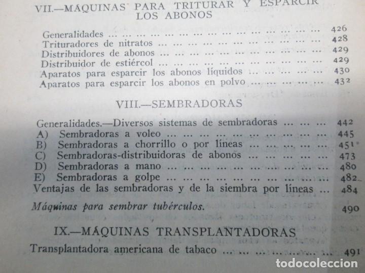 Libros antiguos: A. CENCELLI. G. LOTRIONTE. MAQUINAS AGRICOLAS. MANUAL PRACTICO PARA USO DE LOS AGRICULTORES. 1929 - Foto 23 - 165094310