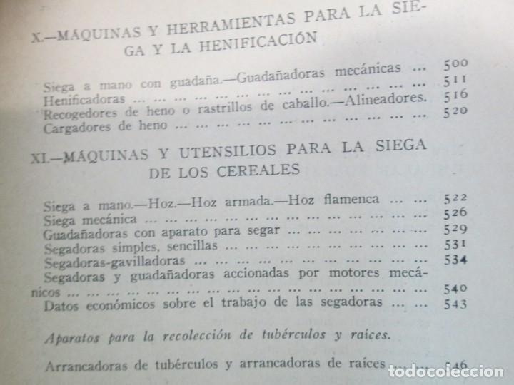 Libros antiguos: A. CENCELLI. G. LOTRIONTE. MAQUINAS AGRICOLAS. MANUAL PRACTICO PARA USO DE LOS AGRICULTORES. 1929 - Foto 24 - 165094310