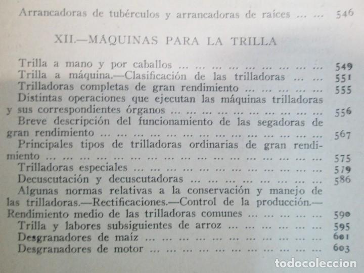 Libros antiguos: A. CENCELLI. G. LOTRIONTE. MAQUINAS AGRICOLAS. MANUAL PRACTICO PARA USO DE LOS AGRICULTORES. 1929 - Foto 25 - 165094310