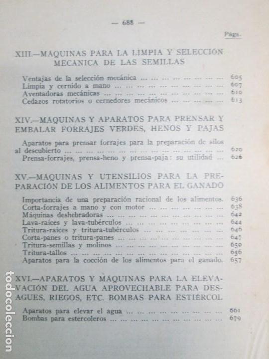 Libros antiguos: A. CENCELLI. G. LOTRIONTE. MAQUINAS AGRICOLAS. MANUAL PRACTICO PARA USO DE LOS AGRICULTORES. 1929 - Foto 26 - 165094310
