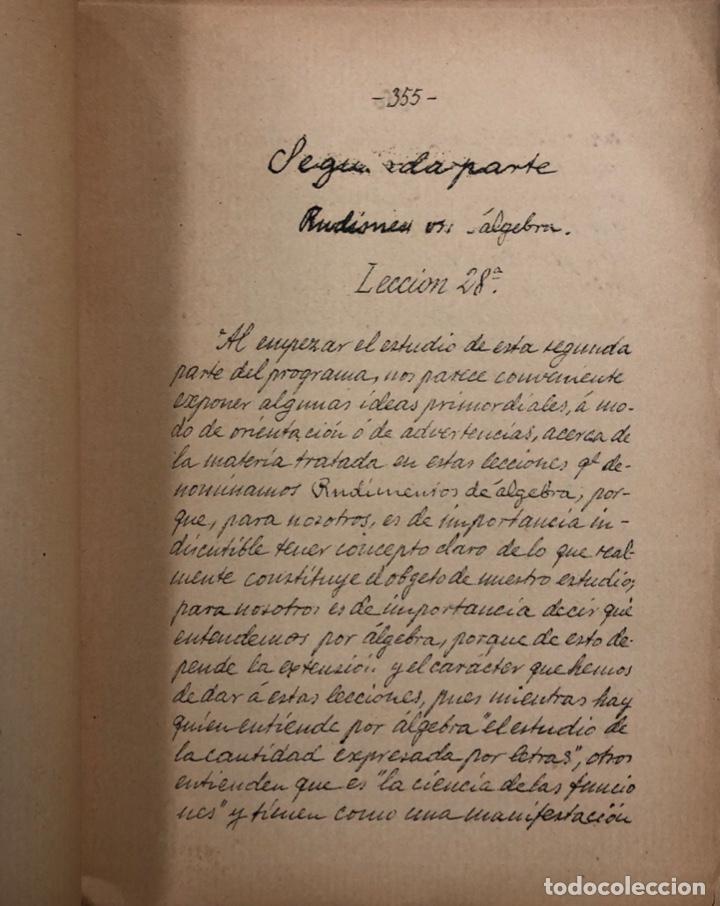Libros antiguos: LECCIONES DE ARITMETICA Y ALGEBRA. CISTOBAL FALCON. CUADERNO Nº2. SEVILLA, 1911. ESCRITO A MANO. - Foto 4 - 165176074