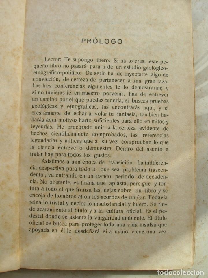 Libros antiguos: Manuel Merchante. Tres conferencias ( dadas en el casino militar de Ceuta ). - Foto 5 - 165659798