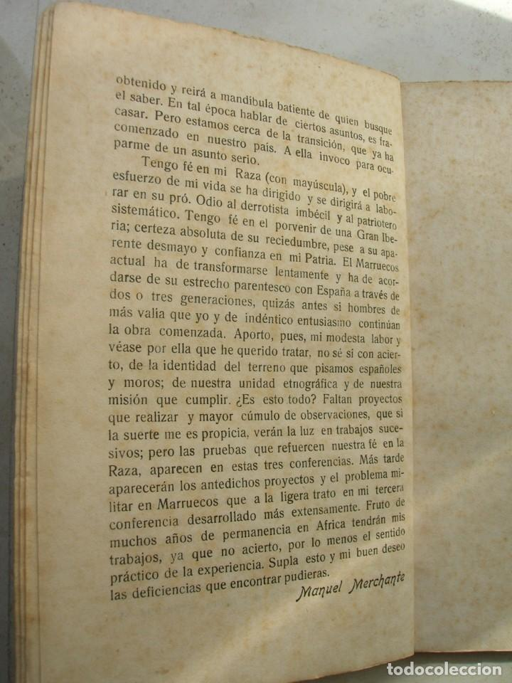 Libros antiguos: Manuel Merchante. Tres conferencias ( dadas en el casino militar de Ceuta ). - Foto 6 - 165659798