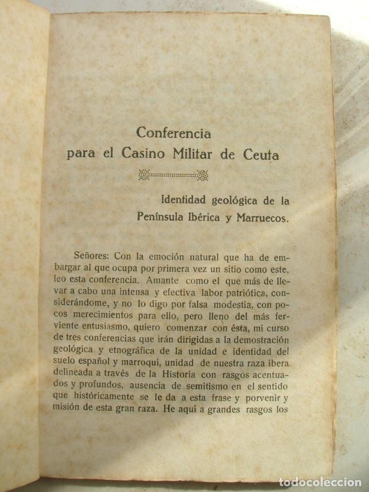 Libros antiguos: Manuel Merchante. Tres conferencias ( dadas en el casino militar de Ceuta ). - Foto 7 - 165659798