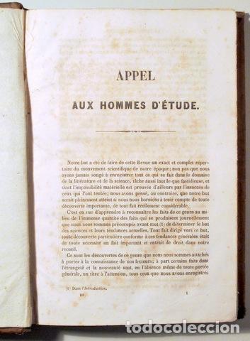 Libros antiguos: LA REVUE SYNTHÈTIQUE Vol. 3 - Paris c. 1844. - Livre en français - Foto 2 - 166357862